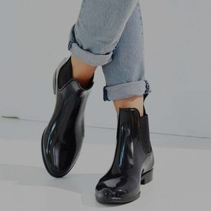 SAM EDELMAN Women's Chesney Black Rain Boots 9